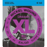 D'Addario - Nickel Wound EXL120-10P 10-Pack Super Light 009-042