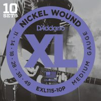 D'Addario - Nickel Wound EXL115-10P 10-Pack Blues/Jazz Rock 011-049
