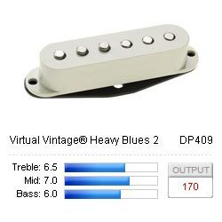 DiMarzio Strata Hum Canceling - DP409 - Virtual Vintage Heavy Blues 2