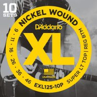 D'Addario - Nickel Wound EXL125-10P 10-Pack Super Light Top/Reg Bottom 009-046