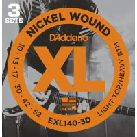 D'Addario - Nickel Wound EXL140-3D 3-Pack Light Top/Heavy Bottom 010-052