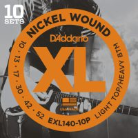 D'Addario - Nickel Wound EXL140-10P 10-Pack Light Top/Heavy Bottom 010-052