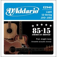 D'Addario - American Bronze  EZ940 12-strängat Light 010-047w