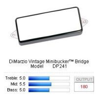 DiMarzio Vintage Minibucker™ Bridge Model DP241