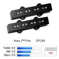 DiMarzio Area J™ Pair DP249BK