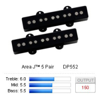DiMarzio Area J™ 5 Pair DP552BK