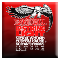 Ernie Ball - 12-strängad Slinky Electric Nickel Wound 009 - 046 EB-2233