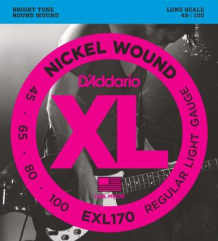 D'Addario - Nickel Round Wound EXL170 Regular Light  045-100