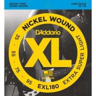D'Addario - Nickel Round Wound EXL180 Extra Super Light 035-095
