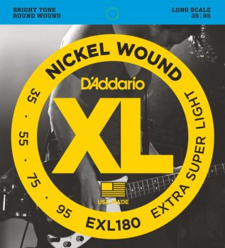 D'Addario - Nickel Round Wound EXL180 Extra Super Light 035-095