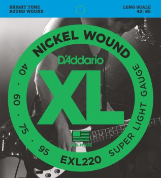 D'Addario - Nickel Round Wound EXL220 Super Light 040-095