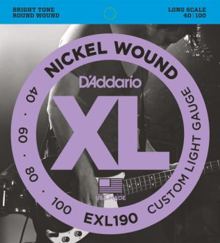 D'Addario - Nickel Round Wound EXL190 Custom Light 040-100
