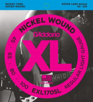 D'Addario - Nickel Round Wound EXL170SL Regular Light 045-100