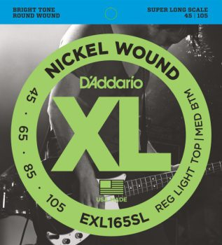 D'Addario - Nickel Round Wound EXL165SL Regular Light Top/Medium Bottom /045-105
