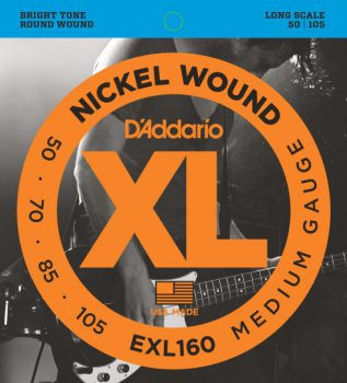 D'Addario - Nickel Round Wound EXL160 Medium 050-105