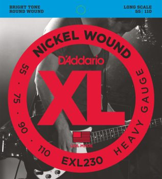 D'Addario - Nickel Round Wound EXL230 Heavy 055-110