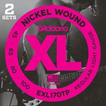 D'Addario - Nickel Round Wound EXL170TP 2-Pack Regular Light  045-100