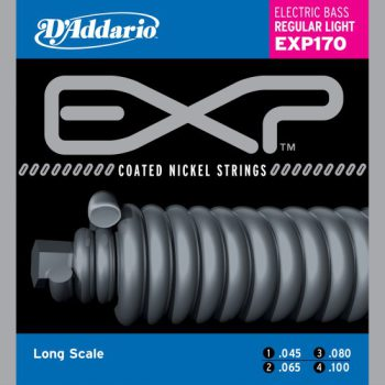 D'Addario - EXP Coated Nickel Round Wound EXP170 Regular Light 045-100