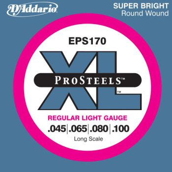 D'Addario - ProSteels Round Wound EPS170 Regular Light 045-100