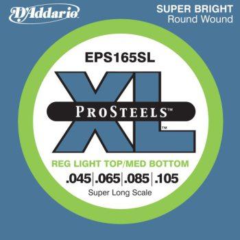 D'Addario - ProSteels Round Wound EPS165SL Light Top/Med Bottom 045-105