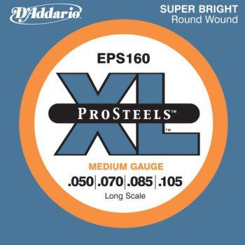 D'Addario - ProSteels Round Wound EPS160 Medium 050-105