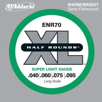 D'Addario - Nickel Half Rounds ENR70 Super Light 040-095