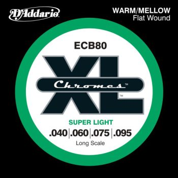 D'Addario - Chromes Flat Wound ECB80 Super Light 040-095