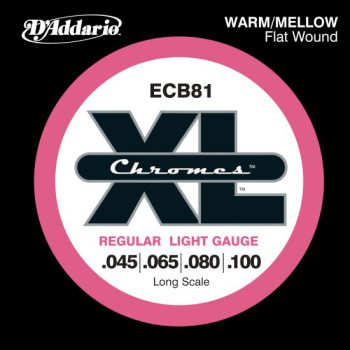 D'Addario - Chromes Flat Wound ECB81 Light 045-100