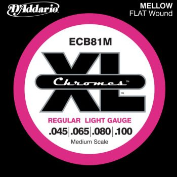D'Addario - Chromes Flat Wound ECB81M Light 045-100
