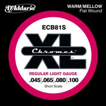 D'Addario - Chromes Flat Wound ECB81S Light 045-100