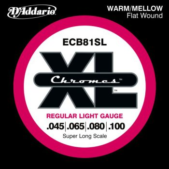 D'Addario - Chromes Flat Wound ECB81SL Light 045-100