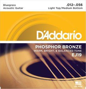 D'Addario - Phosphor Bronze Western EJ19 Bluegrass 012-056