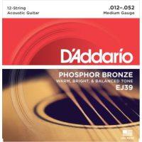 D'Addario - Phosphor Bronze Western EJ39 12-strängad Medium 012-052