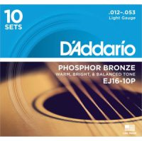D'Addario - Phosphor Bronze Western EJ16-10P 10-pack Light 012-053