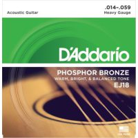 D'Addario - Phosphor Bronze Western EJ18 Heavy 014-059