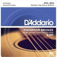 D'Addario - Phosphor Bronze Western EJ37 12-strängad Medium Top/Hevey Bottom 012-054