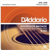 D'Addario - Phosphor Bronze Western EJ42 Resophonic 016-056