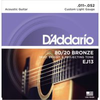 D'Addario - 80/20 Bronze EJ13 Western Custom Light011-052