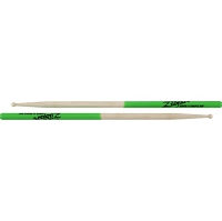Zildjian Super 7A Green Dip Maple Drumsticks Wood Tip