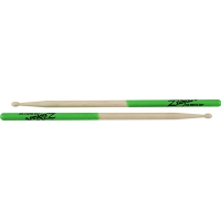 Zildjian 5A Green Dip Maple Drumsticks Wood Tip