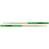Zildjian 5B Green Dip Maple Drumsticks Wood Tip