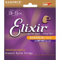 Elixir 16152 Acoustic Phosphor Bronze 12-String Nanoweb 010-047