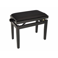 Boston Piano Bench Gloss Black/Black Velvet Seat