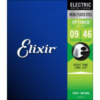 Elixir 19027 Electric Nickel Plated Steel Optiweb 009-046