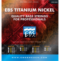 EBS Titanium Nickel Classic Medium 45, 65, 85, 105