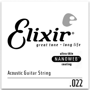 Elixir 15122 80/20 Bronze Single Acoustic Guitar Nanoweb 022