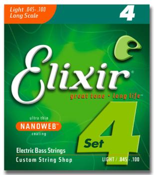 Elixir 14052 Electric Bass Nickel Plated Steel NANOWEB 045-100