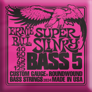 Ernie Ball - Bass 5-strängad Roundwound Nickel Super Slinky 040 - 125