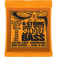 Ernie Ball - Bass 6-strängad Long Scale Roundwound Nickel Slinky 032 - 130