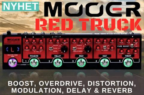 Mooer Red Truck - Effektbord